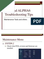 ALPHA6 Troubleshoot