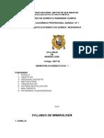 Syllabus de Mineralogía 2016-i