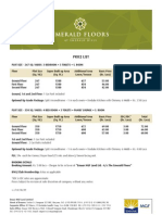 Emerald Floors Price List