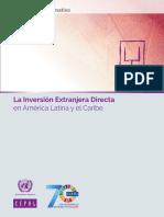 La Inversión Extranjera Directa en América Latina y El Caribe 2018. Documento Informativo S1800412_es