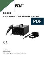 ProsKit Soldering Station 989B Manual