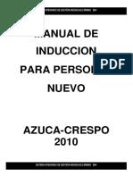 Manual de Inducción 2010 Azuca Crespo