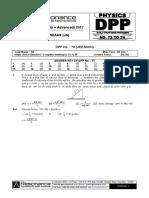 Class XI Physics DPP Set (29) - Previous Chaps - Properties of Solids & Liquids.