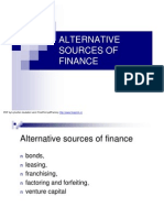 Alternative Sources of Finance