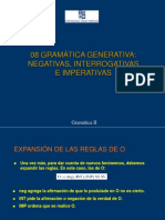 Gramatica Generativa Negativas interrogativas e imperativas