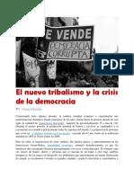 El Nuevo Tribalismo y La Crisis de La Democracia