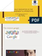Google Innovations in the management & operations