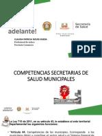 Competencias Secretarias de Salud Municipales