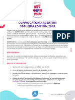 Bases Convocatoria Ideaton 2018