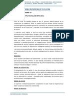 Especificaciones Tecnicas - Aguas Verdes de Rio Amarillo