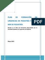 Plan de Formación Urgencias de Pediatría 2015-2016