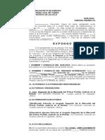 AMPARO - ILEGAL EMPLAZAMIENTO -  FORMATO.doc