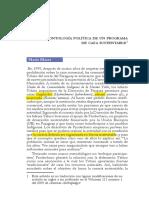 Blaser-Ontología Política de Un Programa de Caza Sustentable