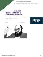 ¿Qué es la Educación Popular_ Concepto y aplicaciones prácticas