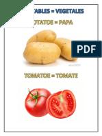 Vegetales en Ingles