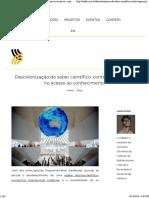 (Web) Iris. Descolonização do saber científico - contra-hegemonia no acesso ao conhecimento.pdf