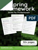 Spring Framework Notes for Professionals