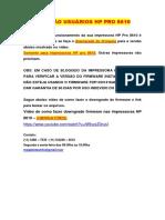 ATENÇÃO Leitura Obrigatória  Manual HP 8100 8610 8600 OBRIGATÓRIO.docx