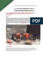 Uso Explosivos en Tunel Mina Chuquicamata