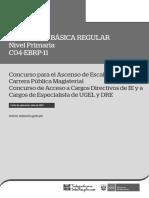 c04 Ebrp 11 Primaria Version 1 - Evaluación de ascenso