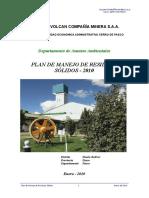 Plan de Manejo de Residuos Solidos 2010