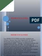 Los HIDROCICLONES