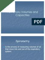 Pulmonary Volumes and Capacities
