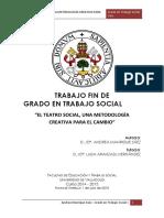 """""""El Teatro Social, Una Metodología Creativa Para El Cambio"""