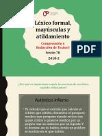 7B-10000N01I Léxico Formal%2c Mayúsculas y Atildamiento (Diapositivas) 2018-2