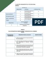 Instrumentos de Evaluación Diagnóstica Vocacional - Oral