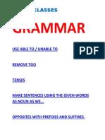 English Grammar Omtex Classes