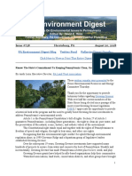 Pa Environment Digest August 20, 2018