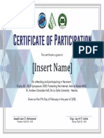 Cert of Part