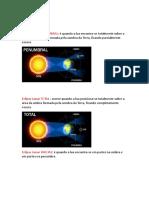 Eclipse Lunar e Solar
