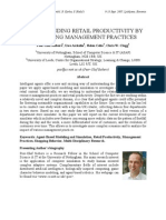 Understanding Retail Productivity by Simulating Management Practices