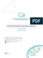 Call for IPSF PARO Subcommittees 2018-19