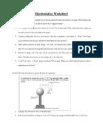 Electrostatic Questions