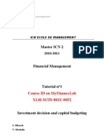 TD1 Investment Decision and Capital Budgeting