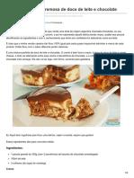Amandocozinhar.com-Chocotorta Torta Cremosa de Doce de Leite e Chocolate
