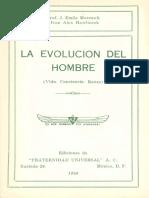 Marcault, Emile - La Evolucion Del Hombre