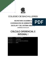 Cálculo Diferencial E Integral I