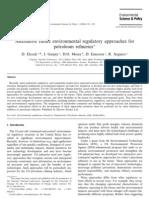 Alternative Future Environmental Regulatory Approaches for Petroleum Refineries