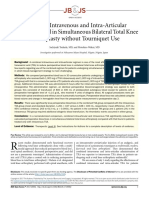 Combined Intravenous and Intra-Articular Tranexamic Acid in Simultaneous Bilateral Total Knee Arthroplasty Without Tourniquet Use