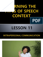 Learning the Types of Speech Context