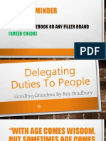 Delegating Duties to People