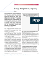 Use of Chemotherapy During Human Pregnancy