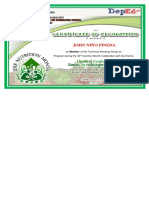 Certificate Nutrition Month
