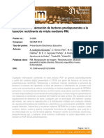 Identificación y valoración de factores predisponentes a la luxación recidivante de rótula mediante RM.