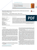 Automated Approach for Design Generation and Thermal Assessment of Alternative Floor Plans