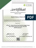 Continuing Profesional Development (CPD), Cpd Online, Skp Apoteker 2017 BPH